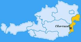Bezirk Oberwart Landkarte
