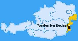 Karte von Weiden bei Rechnitz