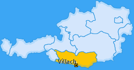 Karte Mittewald Villach