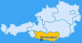 Bezirk Hermagor Landkarte