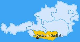 Karte von Dellach (Gailtal)