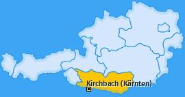 Karte von Kirchbach (Kärnten)