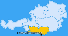 Karte von Feistritz im Rosental