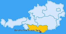 Karte von Keutschach am See