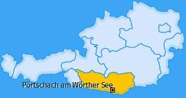 Karte von Pörtschach am Wörther See
