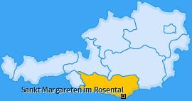 Karte von Sankt Margareten im Rosental