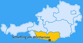 Karte von Schiefling am Wörthersee