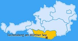 Karte von Techelsberg am Wörther See