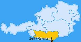 Karte von Zell (Kärnten)