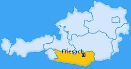 Karte von Friesach