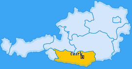 Karte Gwadnitz Gurk