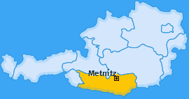 Karte von Metnitz