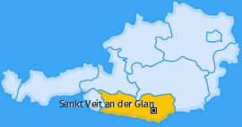 Karte Pörtschach am Berg Sankt Veit an der Glan