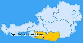 Bezirk Spittal an der Drau Landkarte