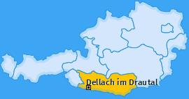 Karte von Dellach im Drautal