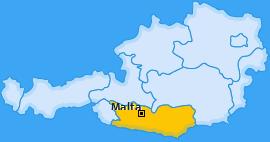 Karte von Malta