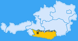 Karte Raufen Obervellach