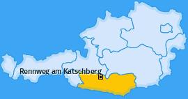 Karte von Rennweg am Katschberg