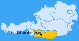 Karte Großegg Spittal an der Drau