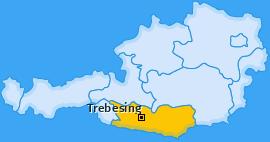 Karte Oberallach Trebesing