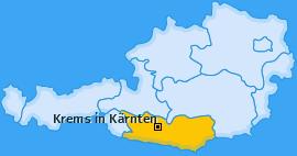 Karte von Krems in Kärnten