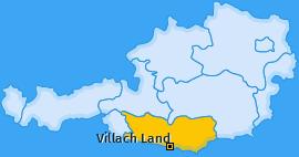 Bezirk Villach Land Landkarte