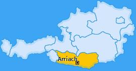 Karte von Arriach