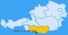 Karte von Feistritz an der Gail