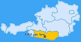 Karte von Feld am See