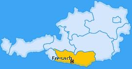 Karte von Fresach