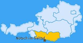 Karte Labientschach Nötsch im Gailtal