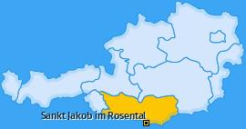 Karte von Sankt Jakob im Rosental
