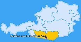 Karte von Treffen am Ossiacher See