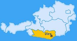 Karte Grafenbach Diex