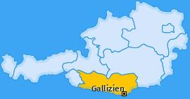 Karte von Gallizien