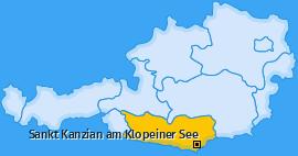 Karte von Sankt Kanzian am Klopeiner See