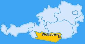 Bezirk Wolfsberg Landkarte