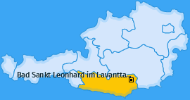 Karte von Bad Sankt Leonhard im Lavanttal