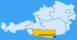 Karte von Lavamünd