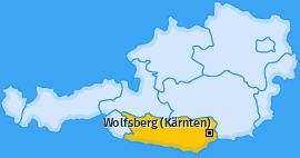Karte Gräbern Wolfsberg (Kärnten)