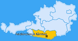 Karte Glanhofen Feldkirchen in Kärnten