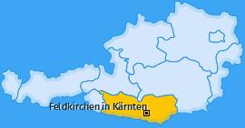 Karte von Feldkirchen in Kärnten