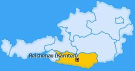 Karte von Reichenau (Kärnten)