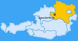 Bezirk Amstetten Landkarte