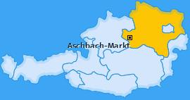 Karte von Aschbach-Markt