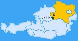 Karte von Zeillern
