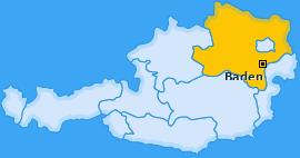 Bezirk Baden Landkarte
