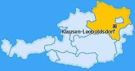 Karte von Klausen-Leopoldsdorf