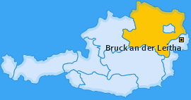 Bezirk Bruck an der Leitha Landkarte
