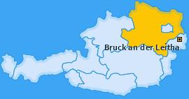 Karte von Bruck an der Leitha